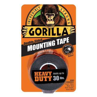 1 in. x 1.67 yd. Black Heavy Duty Mounting Tape