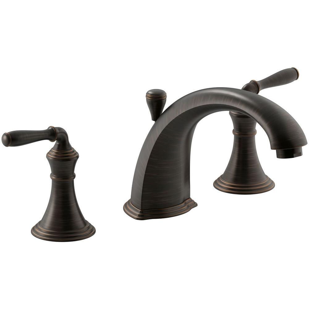Devonshire 2-Handle Deck-Mount Roman Tub Faucet Trim Kit in Oil-Rubbed Bronze (Valve Not Included)