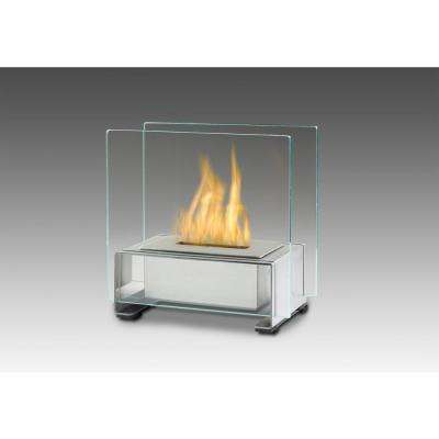 Paris 7 in. Ethanol Tabletop Fireplace in Stainless Steel