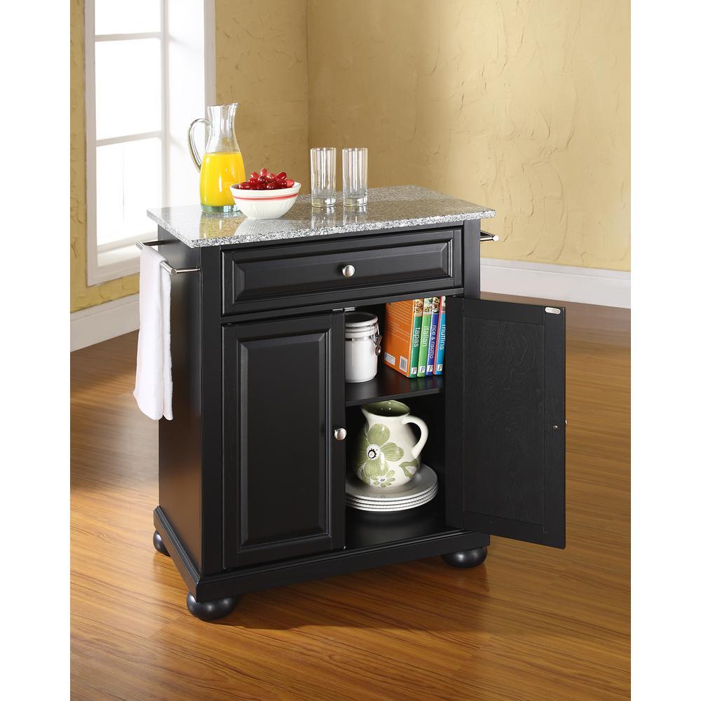 Crosley Alexandria Black Solid Granite Top Portable Kitchen ...