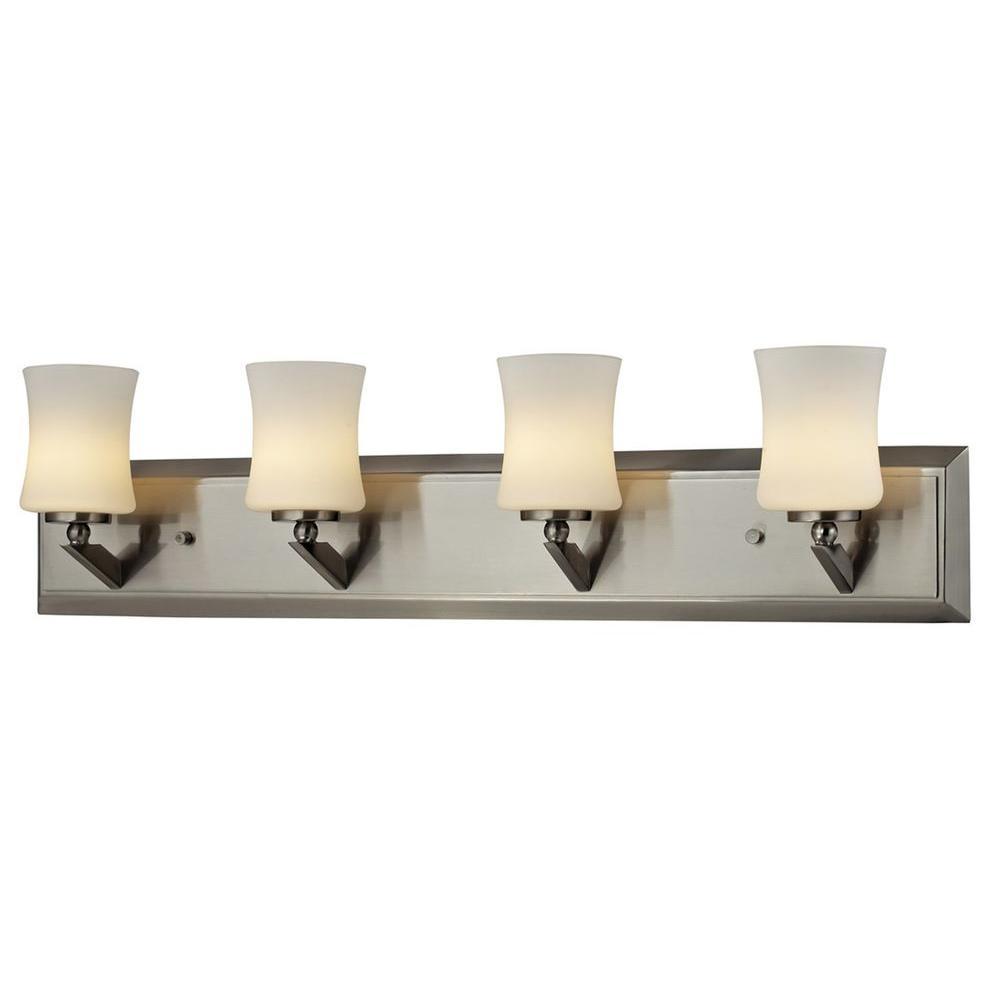 Filament Design Lawrence 4-Light Brushed Nickel Halogen Bath Vanity Light