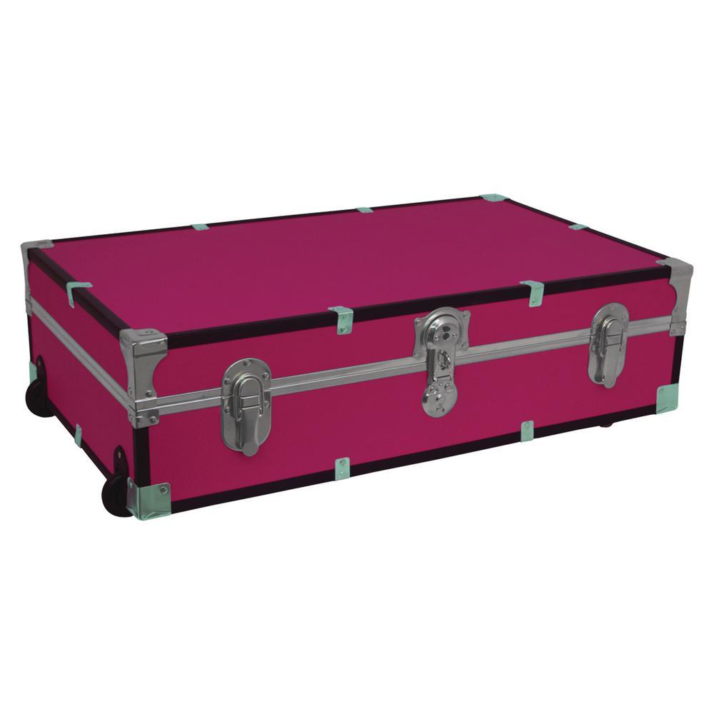 Under The Bed Footlocker Pink Storage Trunk