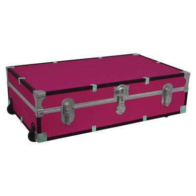 Under the Bed Footlocker Pink Storage Trunk