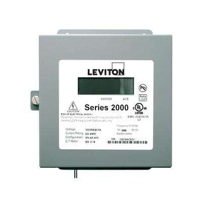 Sub Meter Series 2000 Three Element Indoor Surface Mount Enclosure, 100:0.1 Amp Ratio Max 100 Amp, Gray