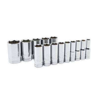 1/2 in. Drive SAE Deep Socket Set (14-Piece)