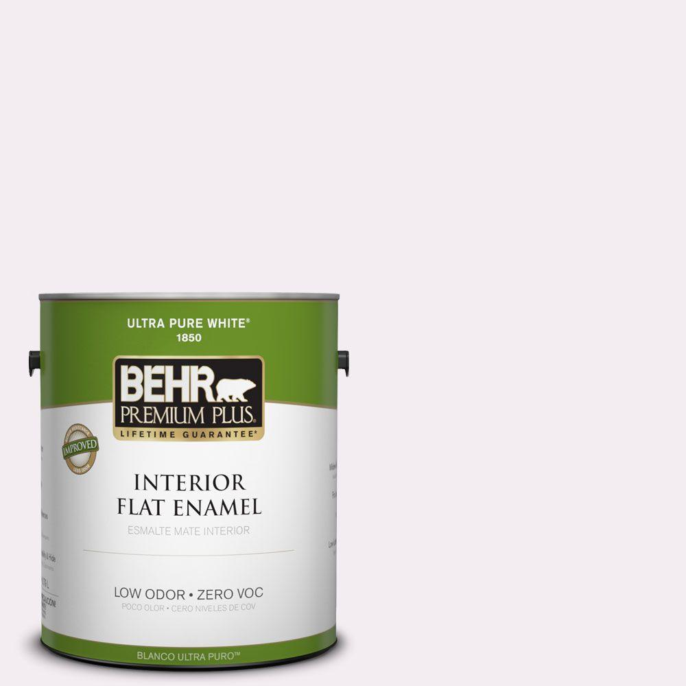 BEHR Premium Plus 1-gal. #680E-1 First Blush Zero VOC Flat Enamel Interior Paint-DISCONTINUED