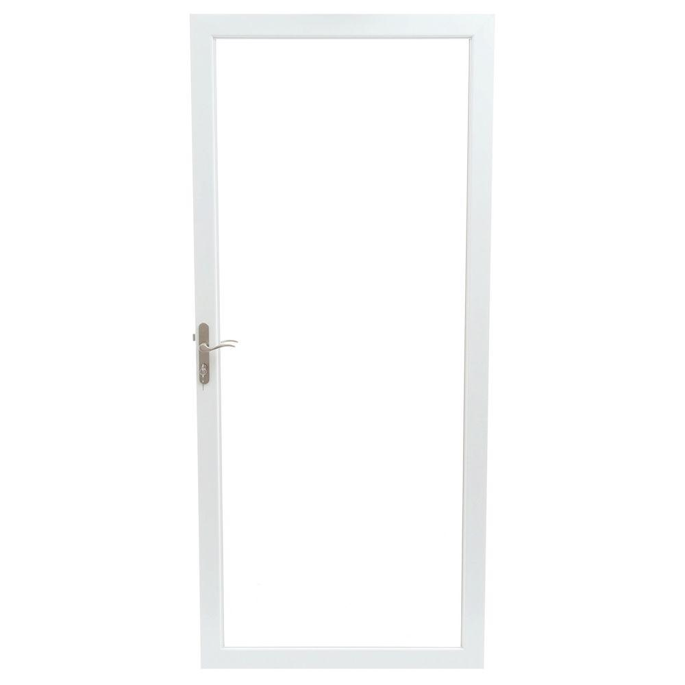 36 in. x 80 in. 2000 Series White Universal Fullview Aluminum