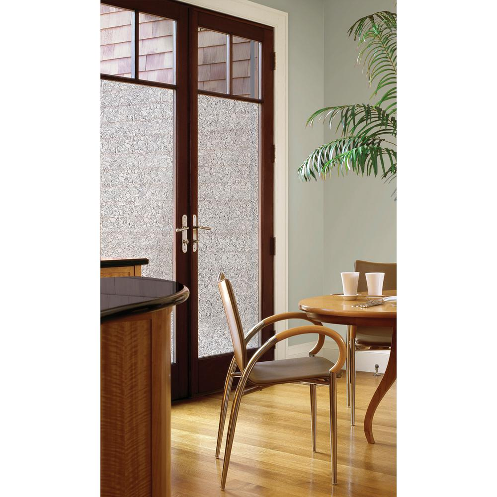 Mosaic Door Privacy Window Film  sc 1 st  Home Depot & DC Fix 35.43 in. x 78.74 in. Mosaic Door Privacy Window Film-98859 ...
