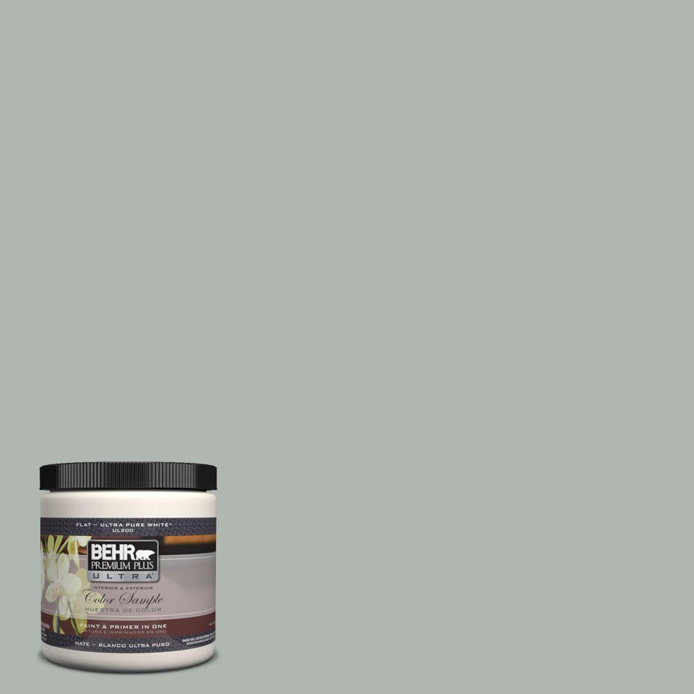 BEHR Premium Plus Ultra 8 oz. #UL210-7 Verdigris Interior/Exterior Paint Sample