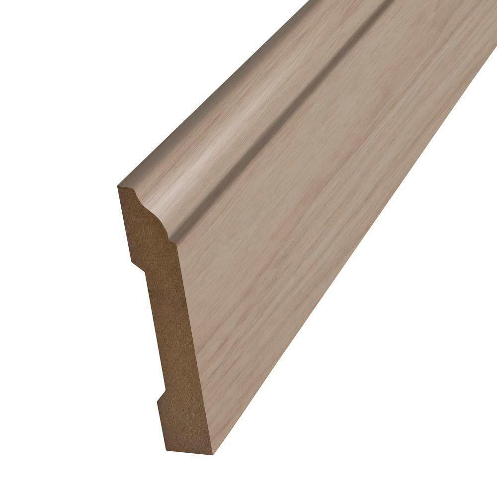 SimpleSolutions 7-7/8 ft. x 3-1/4 in. x 9/16 in. Wallbase Molding-DISCONTINUED