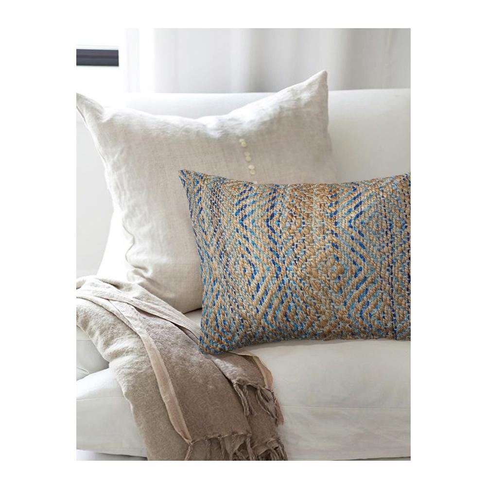 Timbuktu Cobalt 16 in. x 24 in. Rectangle Decorative Indoor Accent Pillow