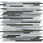Infinity Era Glossy 11.73 in. x 11.73 in. x 4mm Glass Mesh-Mounted Mosaic Tile (0.96 sq. ft.)