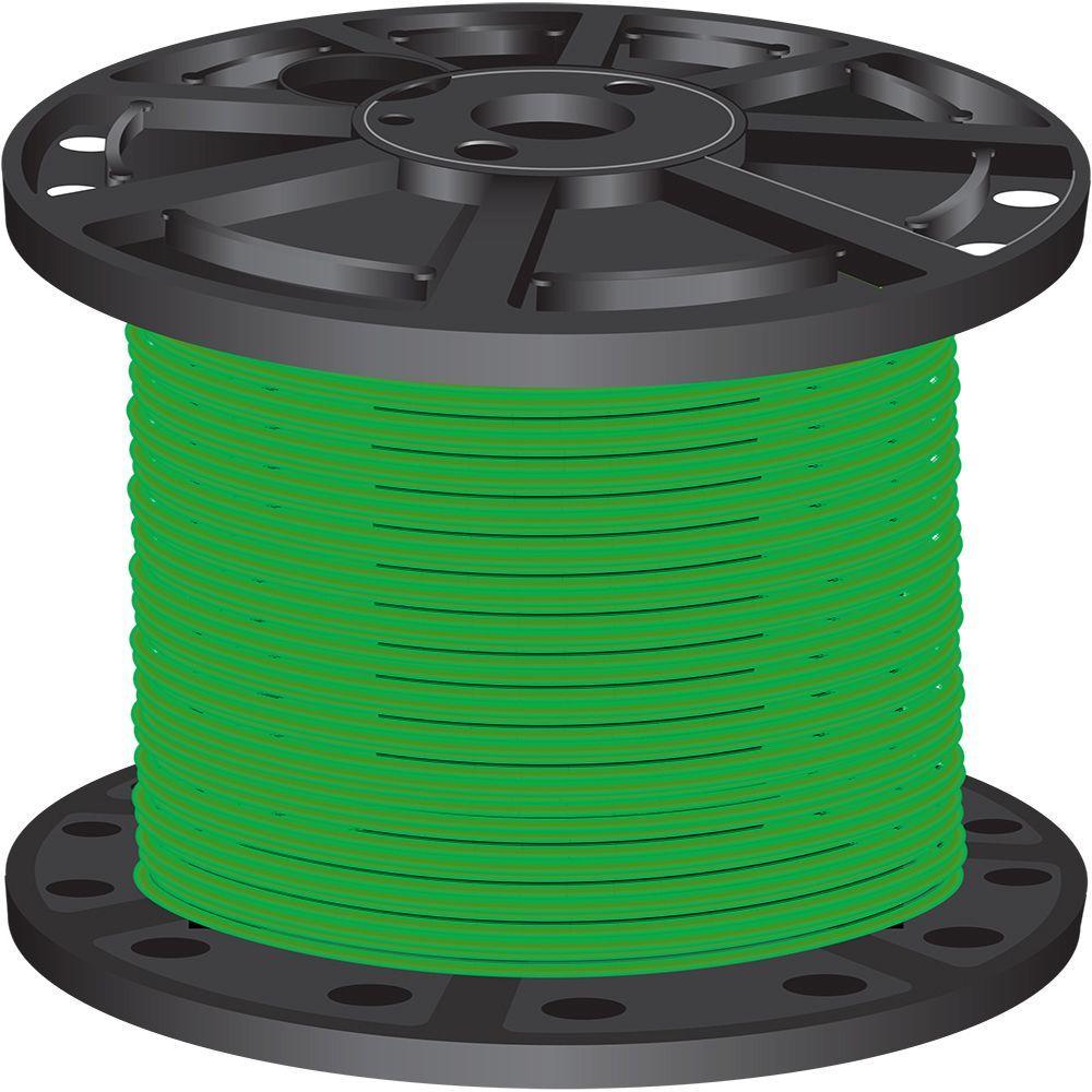 2,500 ft. 10-Gauge Green Stranded CU XHHW Wire