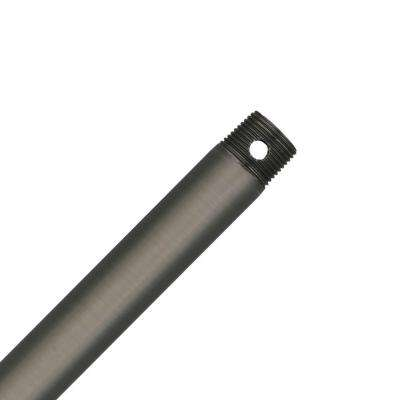 36 in. Antique Pewter Extension Downrod for 12 ft. ceilings