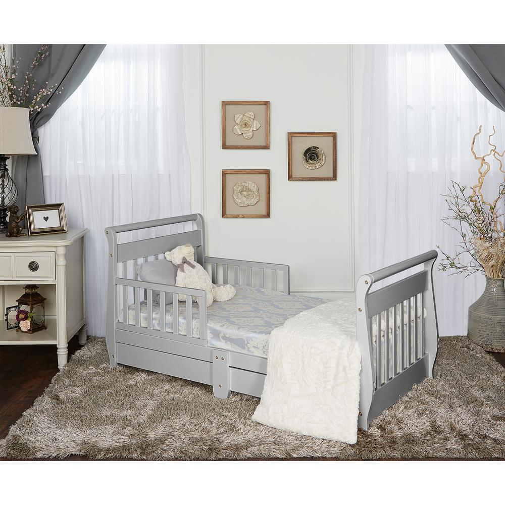 Stupendous Dream On Me Pebble Grey Toddler Adjustable Sleigh Bed With Bralicious Painted Fabric Chair Ideas Braliciousco
