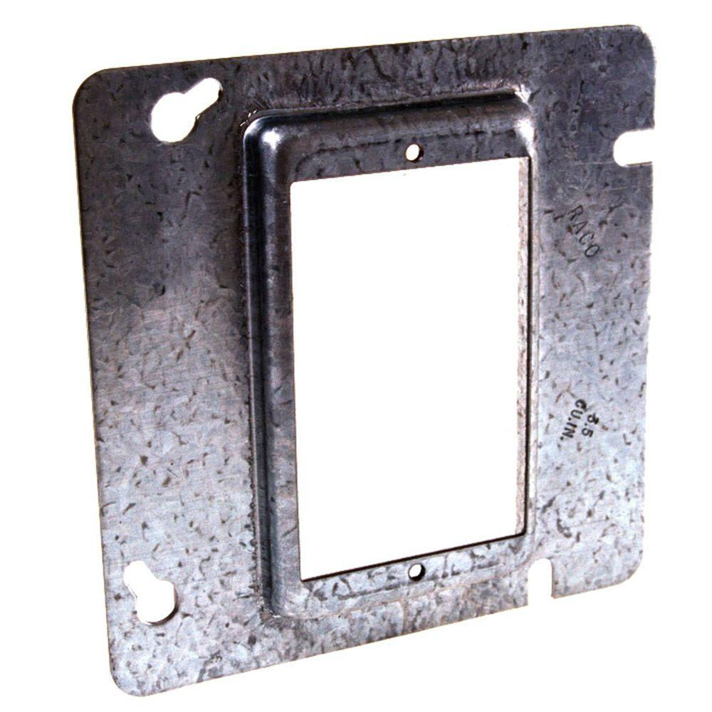 4-11/16 in. Square Single Device Mud Ring, Raised 1/2 in. (25-Pack)