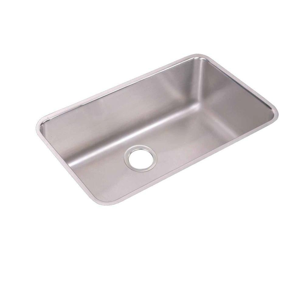 Elkay Lustertone Undermount Stainless Steel 31 in. Single Bowl Kitchen Sink