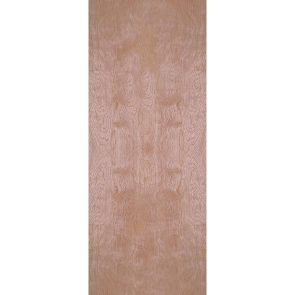 32 in. x 80 in. Smooth Flush Hardwood Hollow Core Birch Veneer Composite Interior Door Slab
