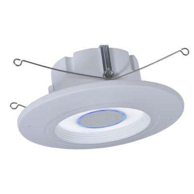 RL56 Series 5 in./6 in. Tunable CCT Smart Voice Integrated LED Recessed White Retrofit Module Trim by HALO Home