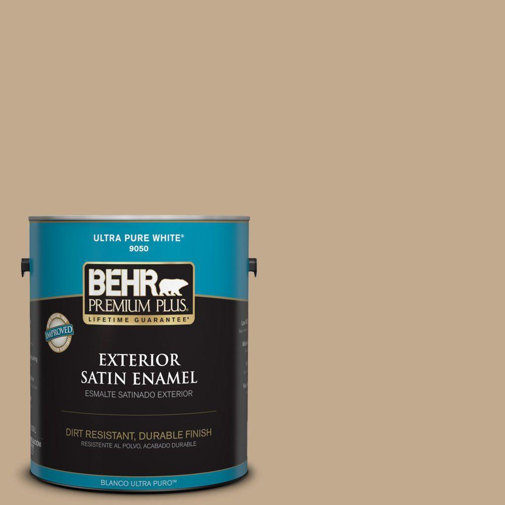 1-gal. #BXC-07 Palomino Tan Satin Enamel Exterior Paint