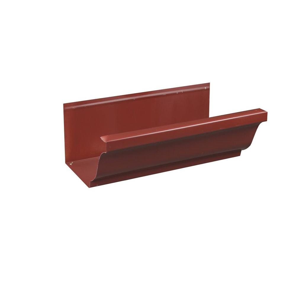 Spectra Metals 6 in. x 8 ft. K-Style Scotch Red Aluminum Gutter