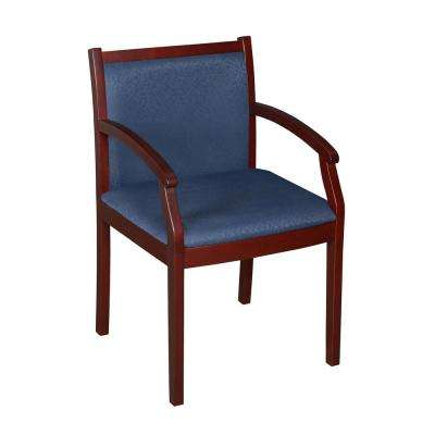 Regent Mahogany and Blue Side Chair