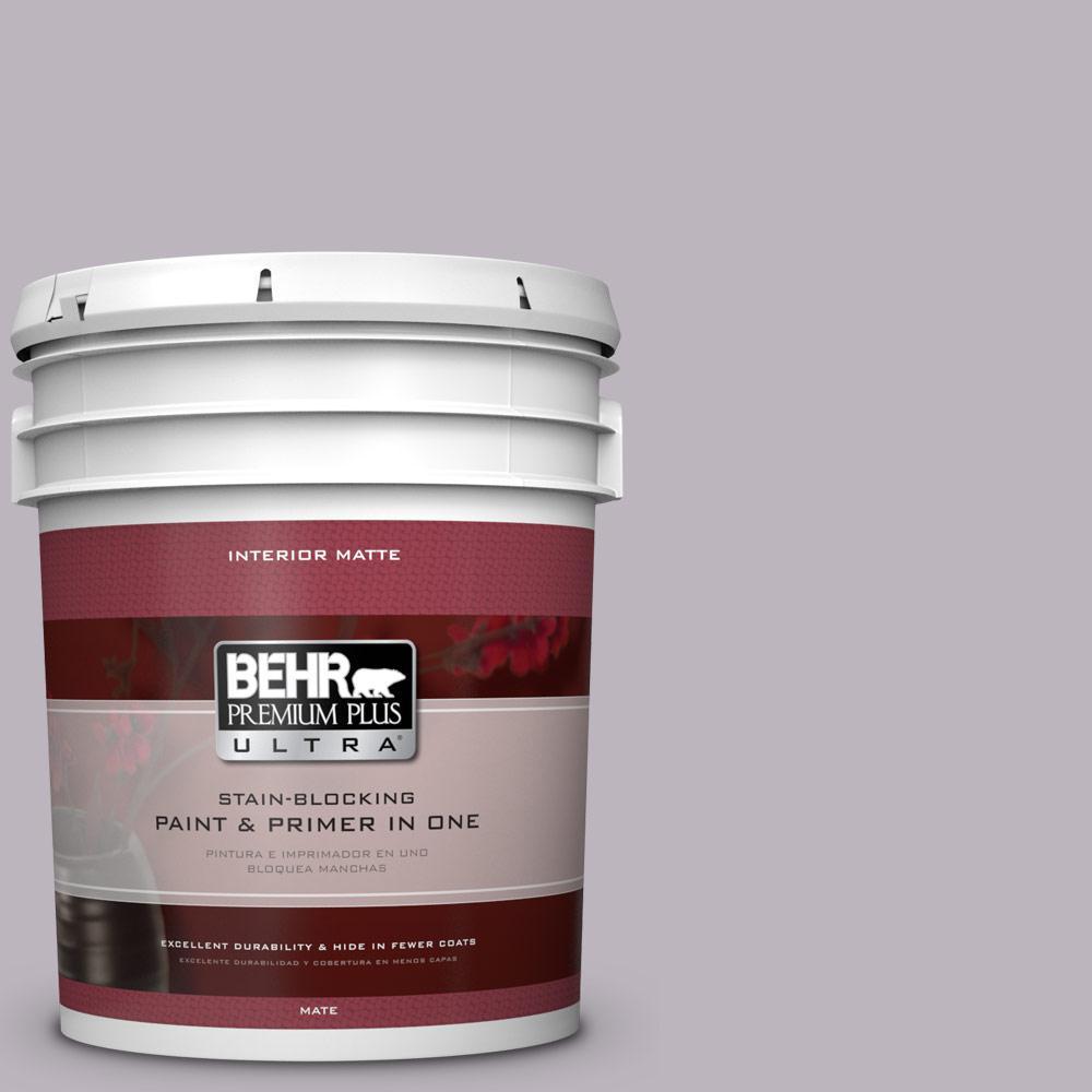 BEHR Premium Plus Ultra 5 gal. #N100-3 Future Vision Matte Interior Paint