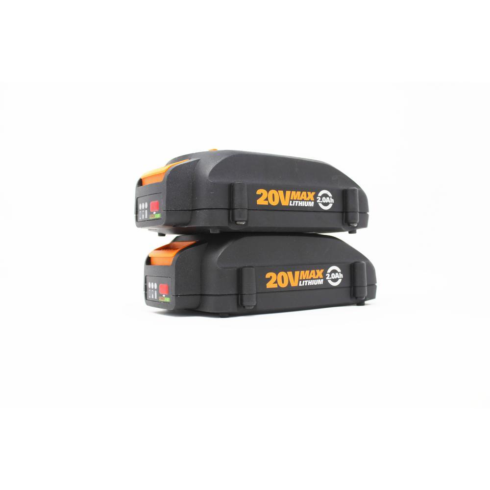 POWER SHARE 20-Volt 2.0 Ah Max Lithium-Ion Battery, 2pk