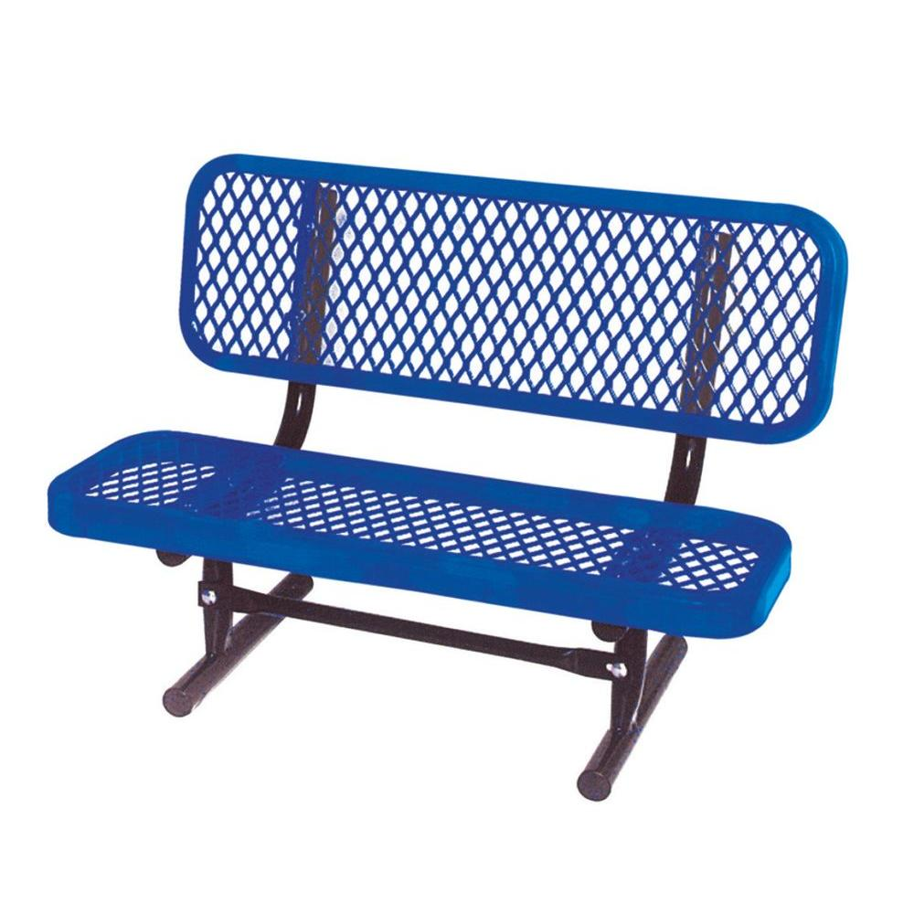 3 ft. Diamond Blue Commercial Park Preschool Bench