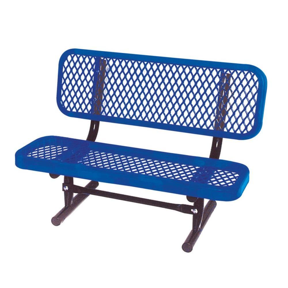 3 ft. Diamond Blue Commercial Park Preschool Bench