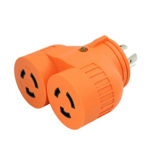 AC WORKS Generator 1-Volt to 2-Volt Outlet Adapter L14-20P 20 Amp 4-Prong... by AC WORKS