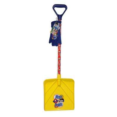 Super-Friends Snow Shovel and Fleece Glove Combo Set