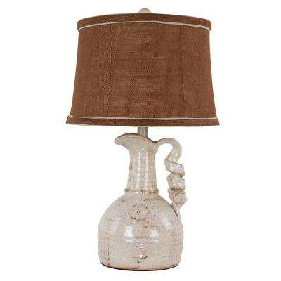 24 in. Ivory Table Lamp
