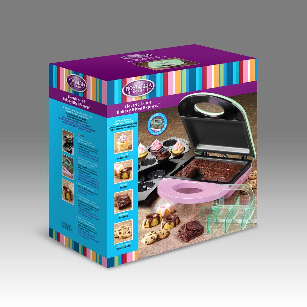 Nostalgia Electrics 4-in-1 Bakery Bites Express-DISCONTINUED