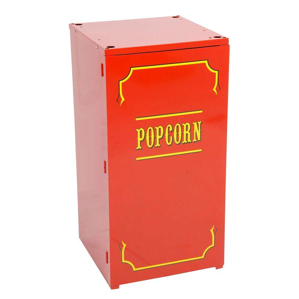 Paragon Premium 1911 Originals 4 oz. Popcorn Stand, Red/Powder Coat Stands provide easier access and better merchandising. The sturdy, all steel construction has a chip resistant coating. The stand also features convenient built-in storage space and breaks down easily for storage and transportation. Color: Red/Powder Coat.