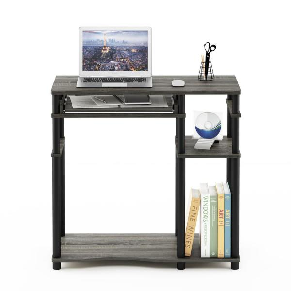 Furinno Abbott French Oak Gray Computer Desk With