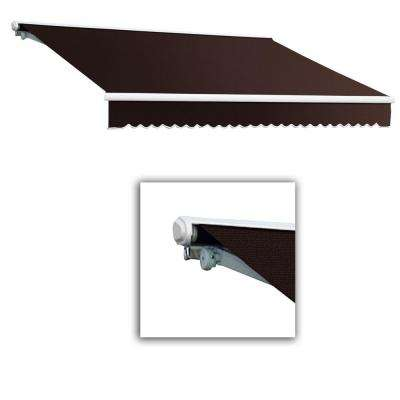 8 ft. Galveston Semi-Cassette Right Motor with Remote Retractable Awning (84 in. Projection) in Brown
