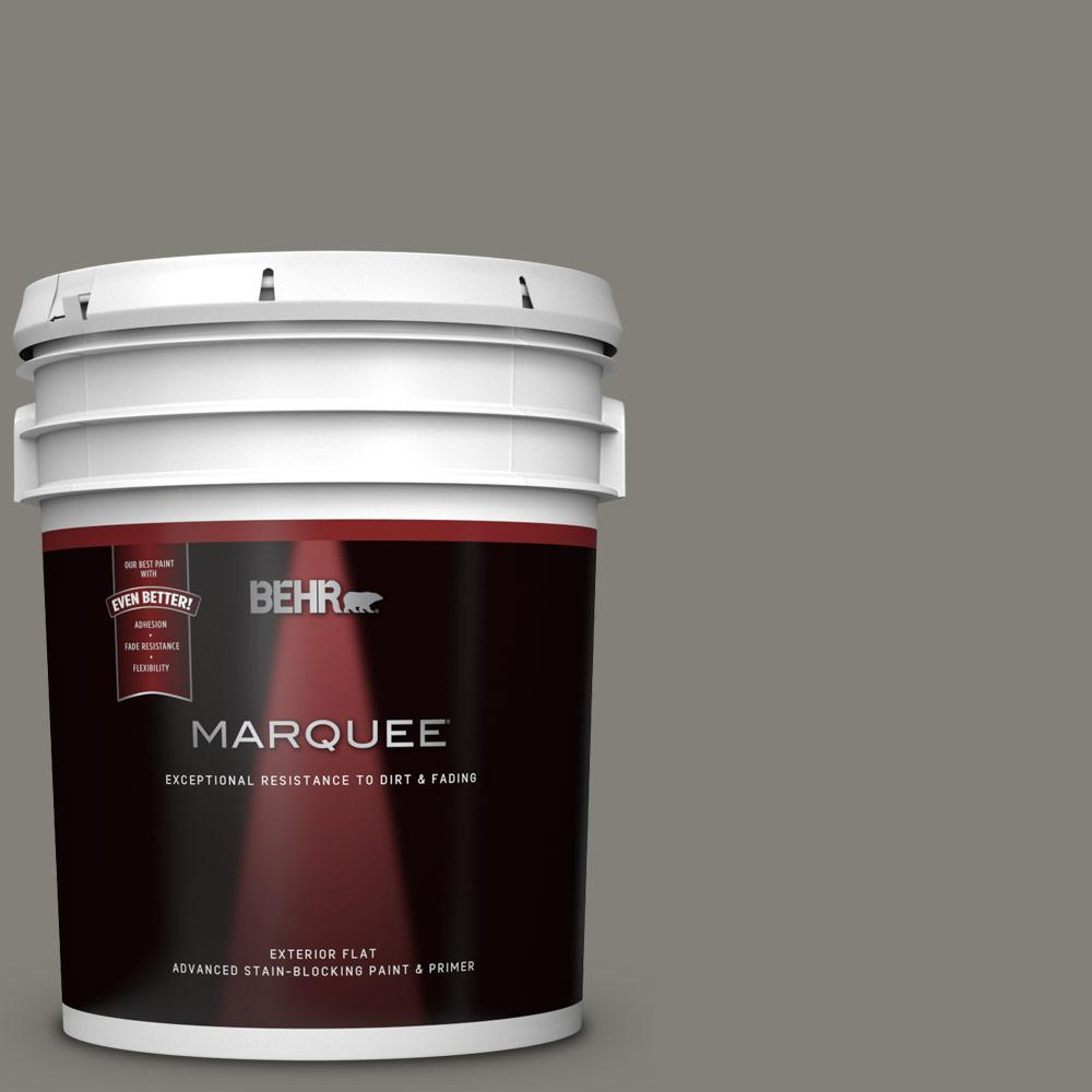 Behr Marquee 5 Gal N360 5a Wood Ash Flat Exterior Paint And Primer In One