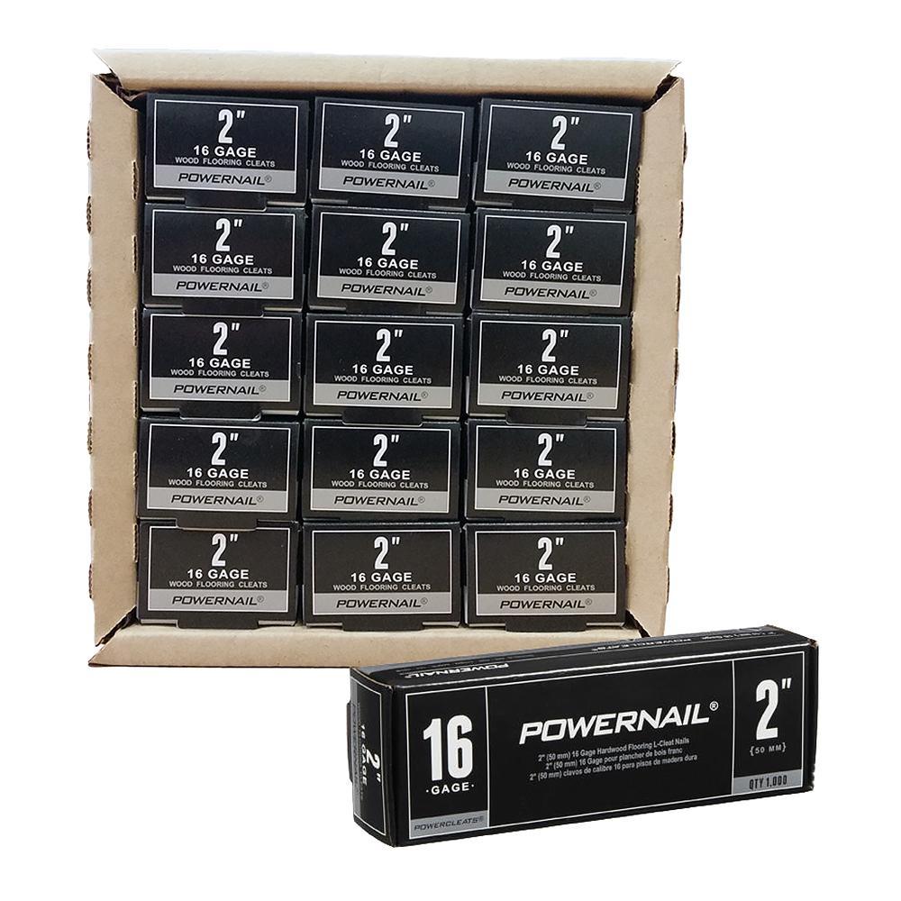 Powercleats 2 in. 16-Gauge Hardwood Flooring Nails 15 Boxes of 1,000