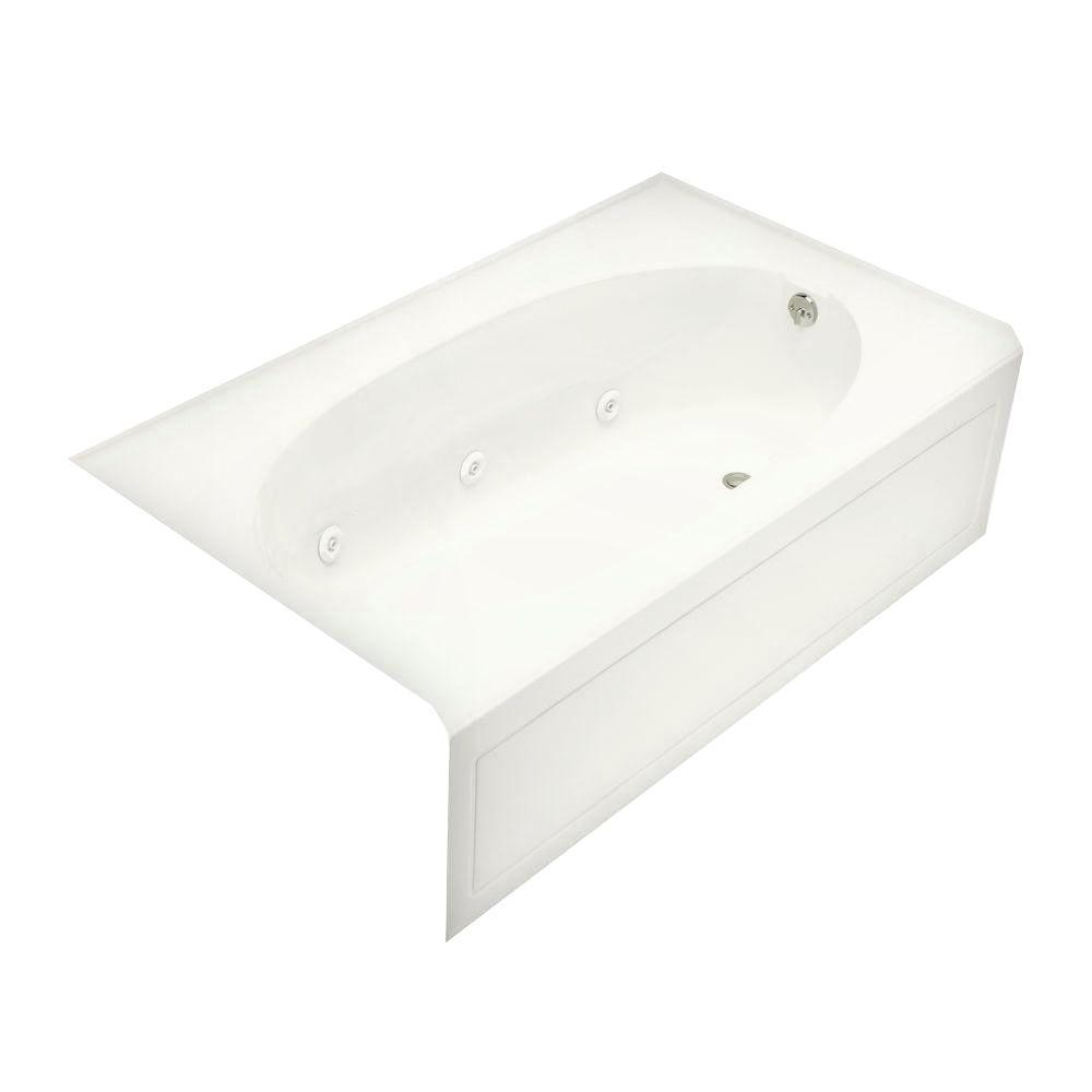 Kohler Windward Bubblemage 5 Ft Right Hand Drain Integral Farmhouse A Bathtub In White