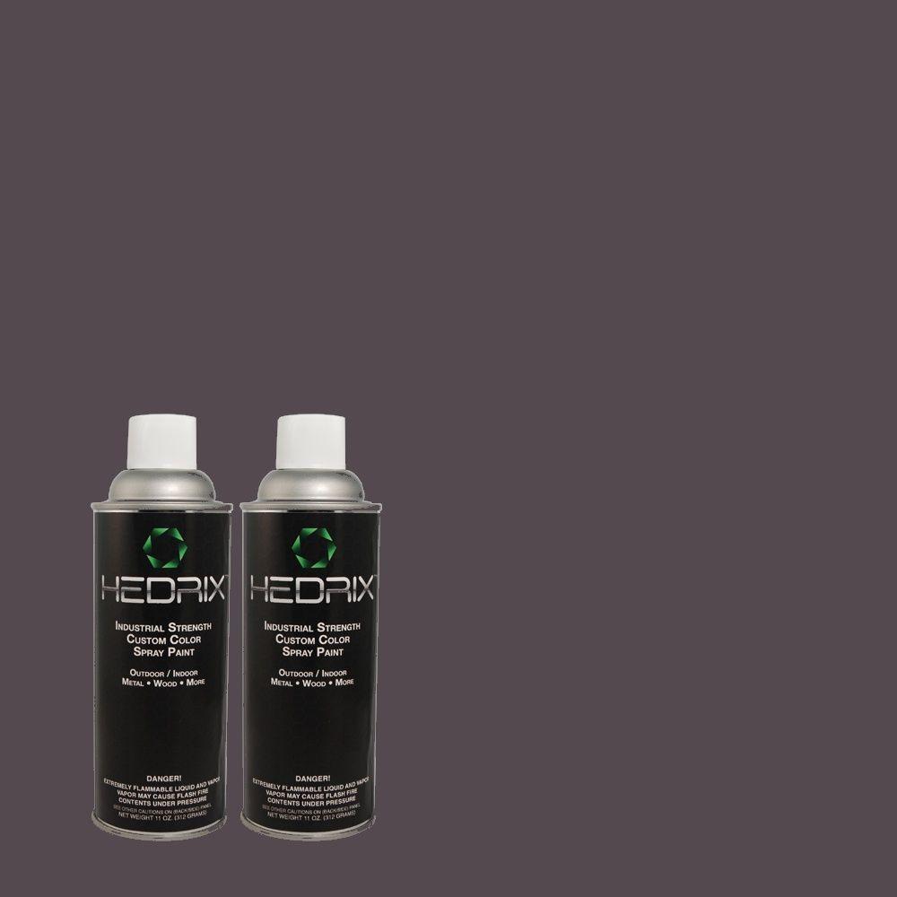 Hedrix 11 oz. Match of PPU15-19 Black Sapphire Flat Custom Spray Paint (8-Pack)