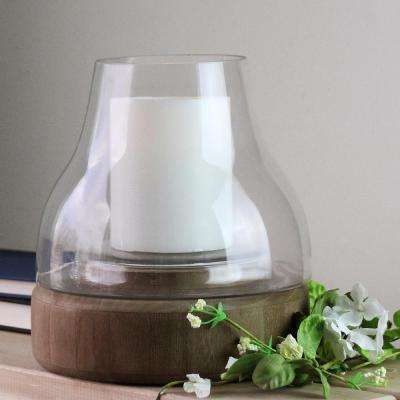 10.25 in. Glass Pillar Candle Holder