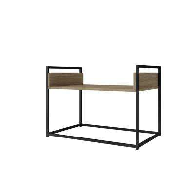 Ellis 27.76 in. Dark Oak and Black Coffee Table