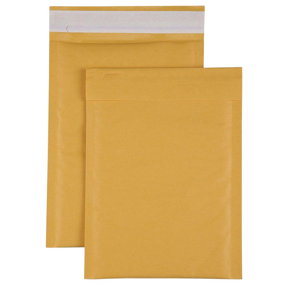 Bubble Cushioned Mailers Size 1 Envelope, Kraft (100-Carton)