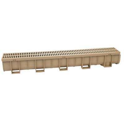 Easy Drain Series 5.4 in. W x 5.4 in. D x 39.4 in. L Trench and Channel Drain in Sandstone