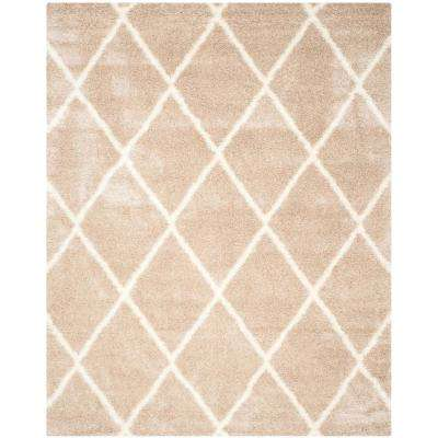 Montreal Shag Beige/Ivory 8 ft. x 10 ft. Area Rug