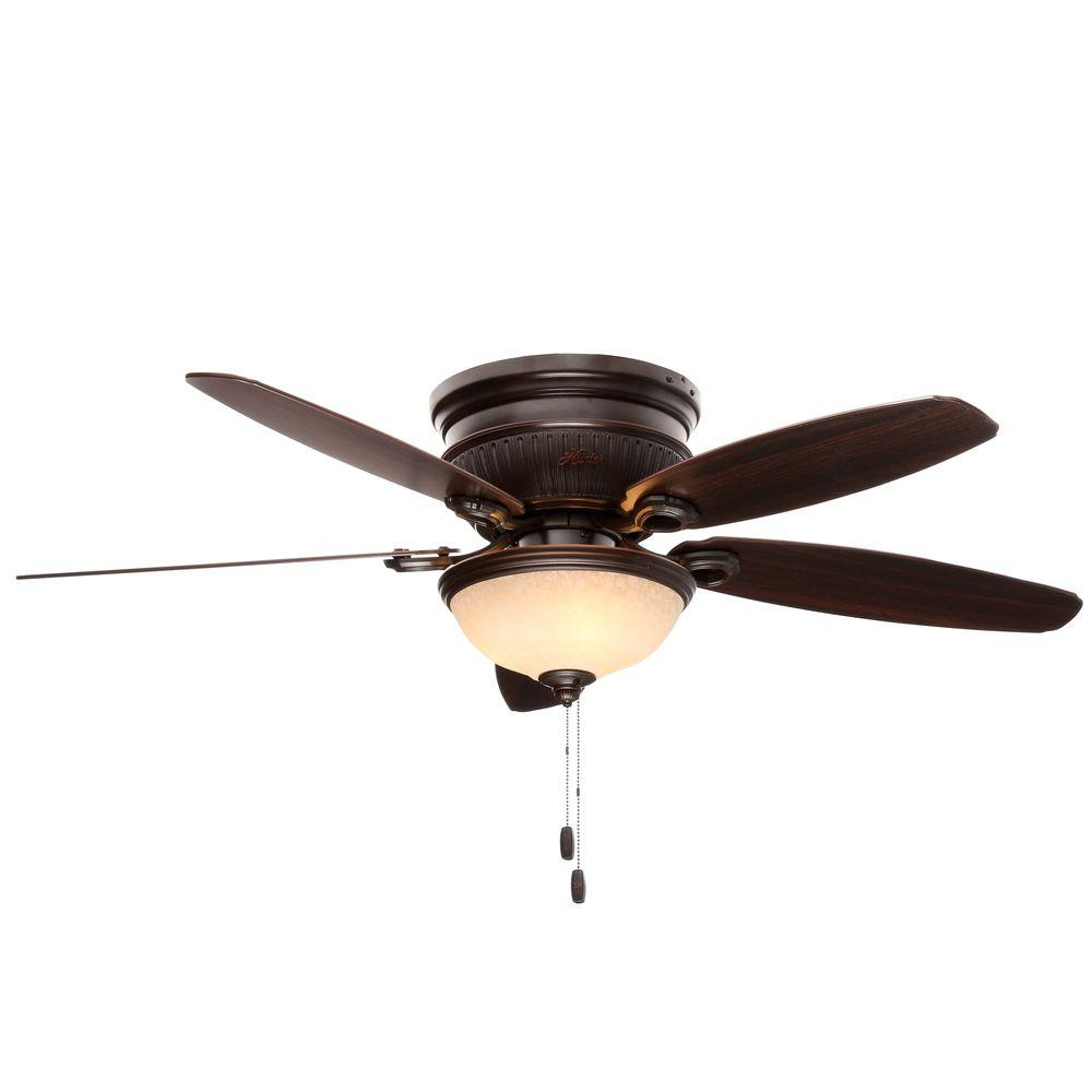 Hunter ashmont 52 in indoor onyx bengal bronze ceiling Home depot kitchen ceiling fans