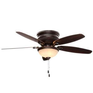 Hunter Ashmont 52 inch Indoor Onyx Bengal Bronze Ceiling Fan with Light Kit by Hunter