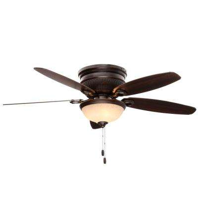 Ashmont 52 in. Indoor Onyx Bengal Bronze Ceiling Fan with Light Kit