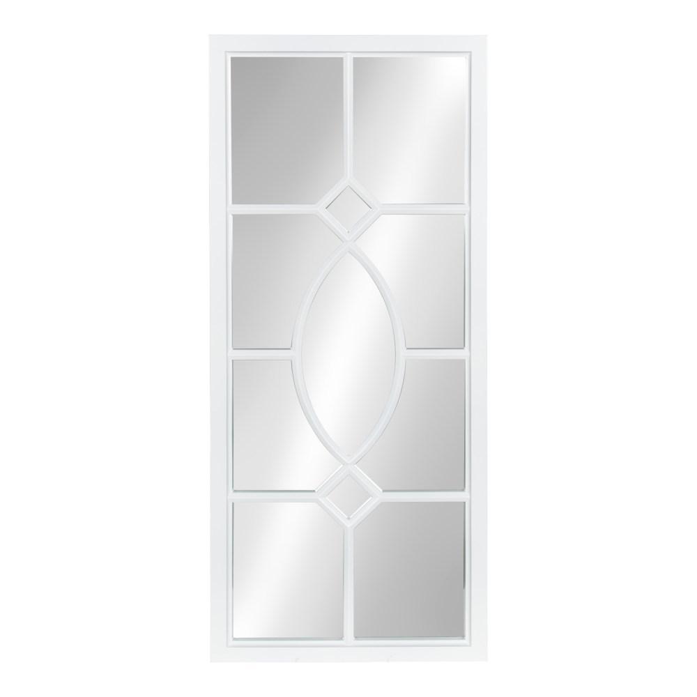 Kate and Laurel Cassat Rectangle White Mirror 211572